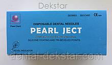 Голки cтоматологічні каpпульні PEARL JECT (100 шт), METRIC (Е 0,4 * 35 мм) блакитні