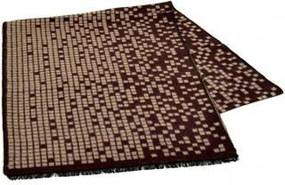 Необычный шерстяной мужской шарф 170 на 30 см 50146-25 коричневый