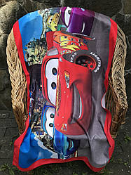 Полотенце детское  банное, коврик  пляжный  из микрофибры Молния Макквин