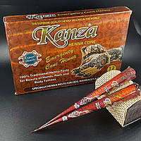 Натуральная хна для мехенди (тату) Kanza Коричневая Индия