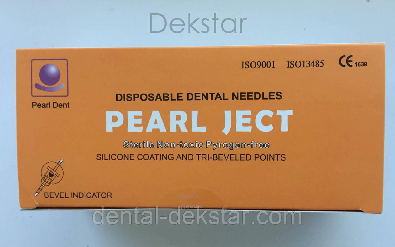 Голки cтоматологічні каpпульні PEARL JECT (100 шт), METRIC (Е 0,3 * 12 мм) помаранчеві