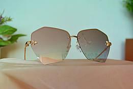 Солнцезащитные зеркальные очки без оправы