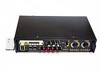 Усилитель звука UKC AV-106BT Bluetooth USB караоке 2 микрофона 2x100W (УЦЕНКА)
