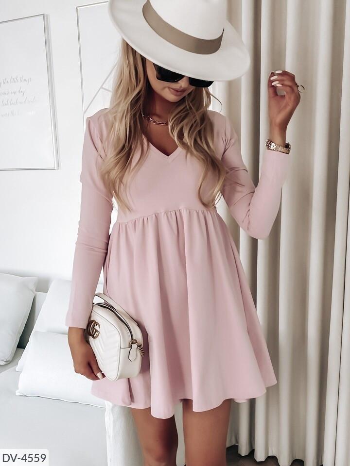 Платье софт с длинными рукавами
