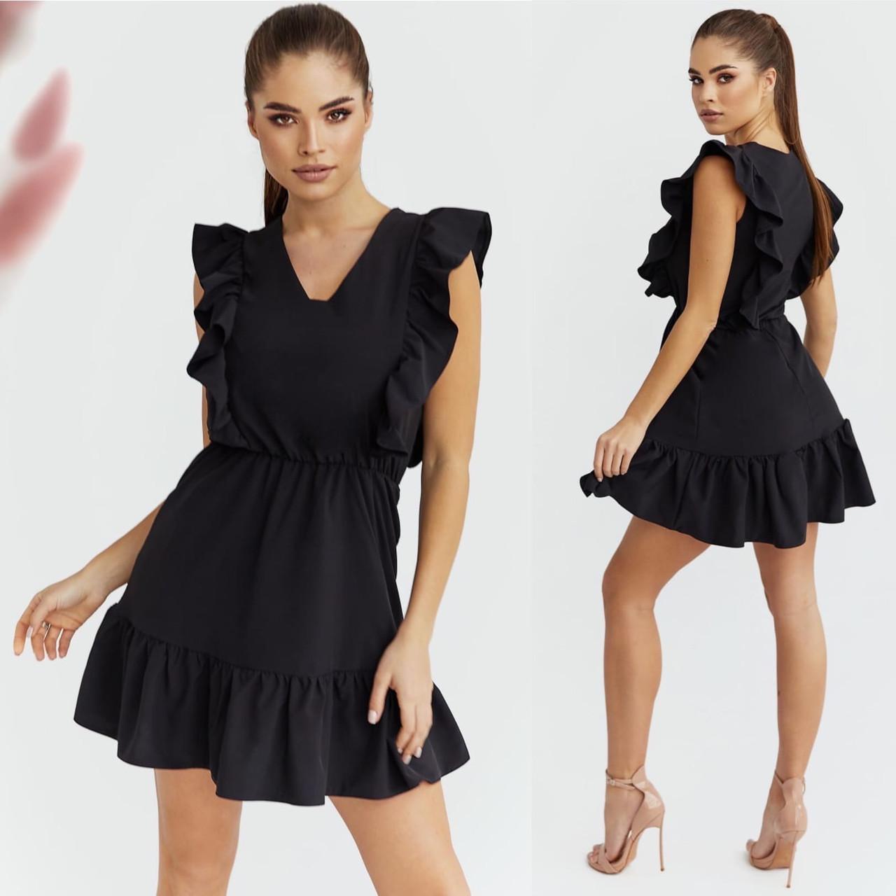 """Літнє жіноче плаття до великих розмірів 2033 """"Софт Рюші Минми"""" в кольорах"""