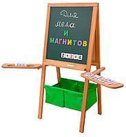 Мольберт дитячий Метелик Грін магнітний, двосторонній, зелені кошики. РК17