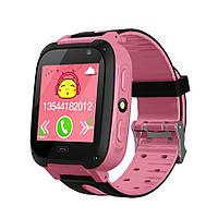 Смарт-часы Smart F2 детские (Pink)   Наручные часы с GPS трекером