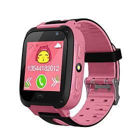 Смарт-часы Smart F2 детские (Pink) | Наручные часы с GPS трекером