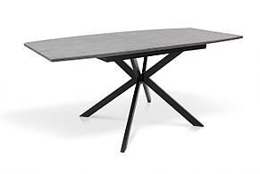 Стол обеденный раскладной на металлической ножке Ричард 140 Микс мебель, цвет серый + столешница серая, фото 2