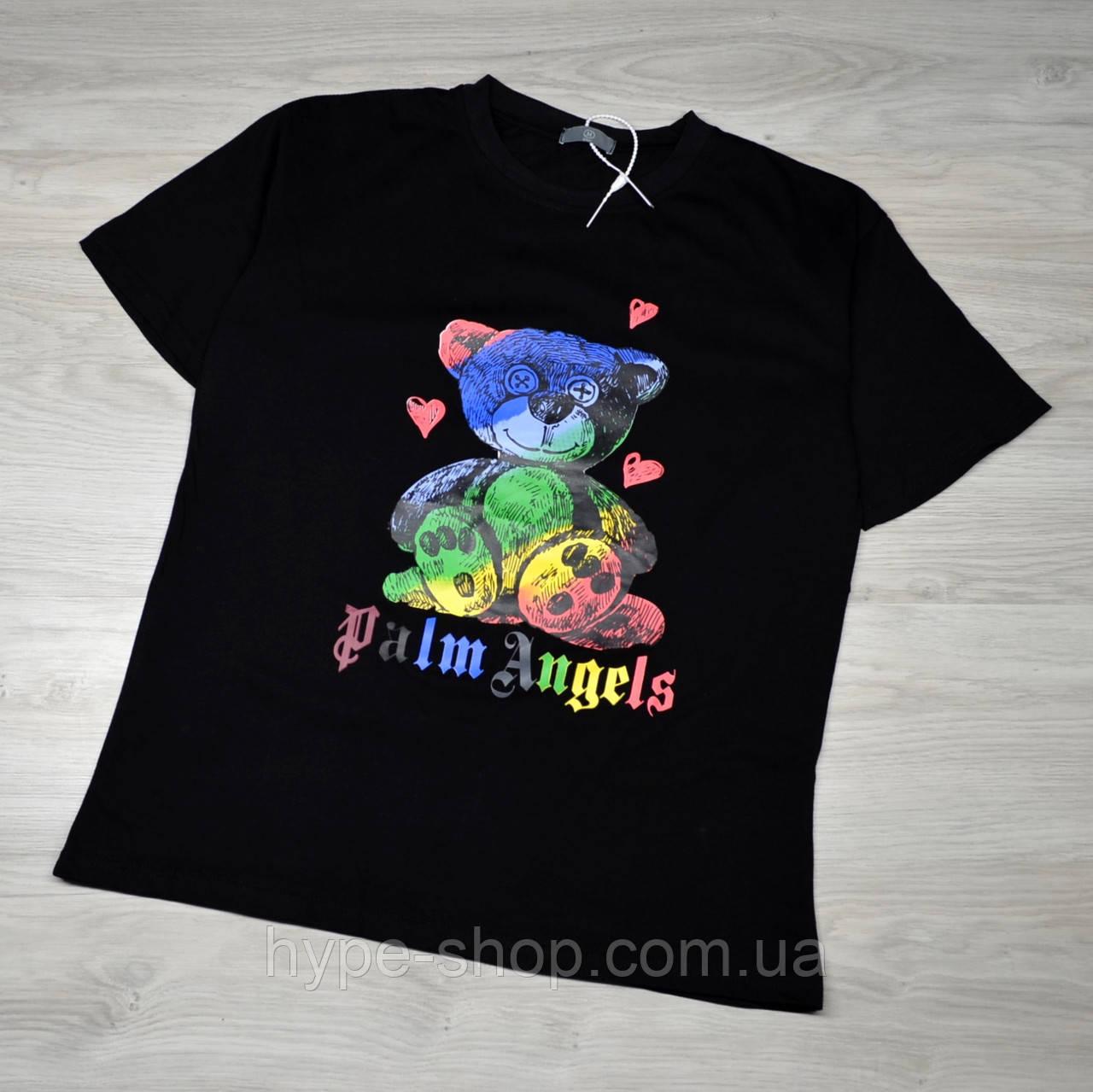 Мужская футболка Palm Angels Bear с качественным принтом