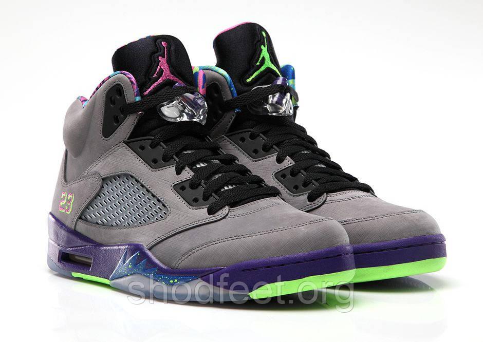 """Мужские кроссовки Air Jordan Retro 5 """"Bel Air"""" Cool Grey/Purple"""
