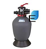 Фильтр для очистки воды бассейна Emaux T500 Volumetric (10 м³/час, D508). Бочка фильтра для засыпки
