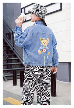 """Куртка джинсовая на девочку """"Мишутка"""""""