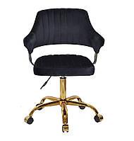 Кресло офисное JEFF GD- OFFICE бархат ,черный в-1011