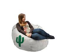 Кресло мешок Кактус серый TIA-SPORT. ТС654