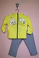 """Яркий и теплый костюм """"Блум"""" для девочек  48, Лимонный"""
