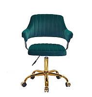 Кресло офисное JEFF GD- OFFICE бархат ,зеленый в-1003