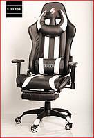 Кресло геймерское Zano Dragon (белое) игровое компьютерное кресло с подставкой для ног и подголовником