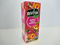 Сок Riviva с трубочкой jablko brzoskwinia яблочно-персиковый 200 мл