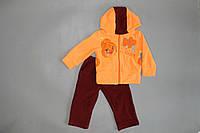 """Яркий и теплый костюм """"Блум"""" для девочек  48, Персиковый"""