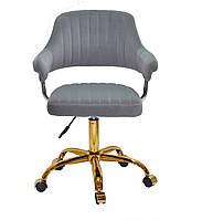 Кресло офисное JEFF GD- OFFICE бархат ,серый в-1004
