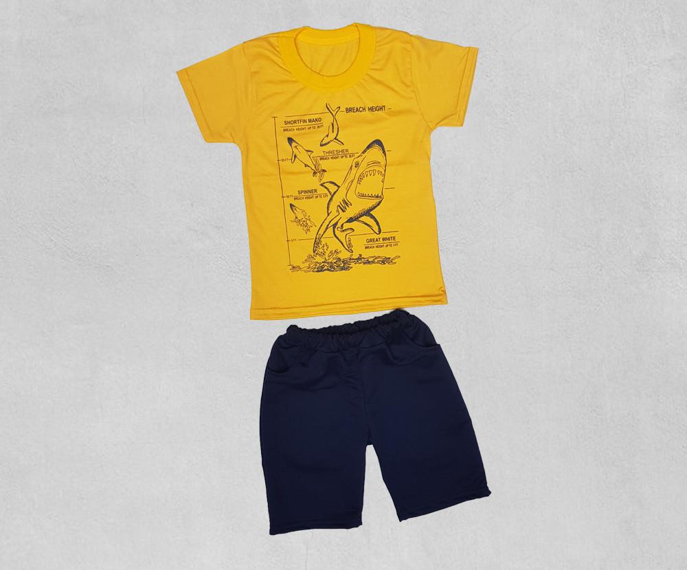 Желтая футболка с шортами
