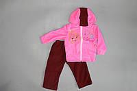 """Яркий и теплый костюм """"Блум"""" для девочек  48, Розовый"""