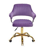 Кресло офисное JEFF GD- OFFICE бархат ,пурпурный в-1013
