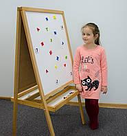 Мольберт детский Юниор Грин 125 см. магнитный, двухсторонний. Доска для рисования. РК17