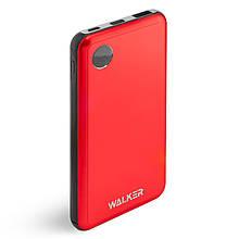 УМБ Power Bank Walker WB-510 10000mAh Metal +LCD Li-Pol 1xUSB 1xUSB Type-C 2.1 A Red