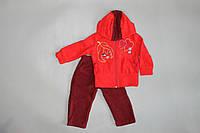 """Яркий и теплый костюм """"Блум"""" для девочек  48, Красный"""