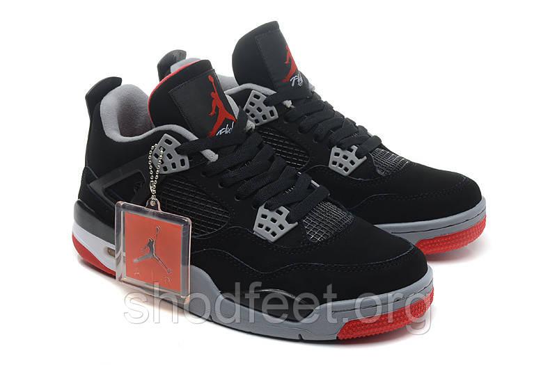 Мужские кроссовки Air Jordan Retro 4 Bred