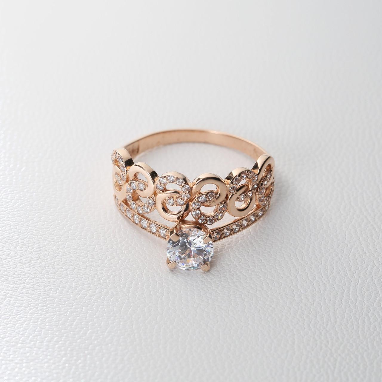 Золотое помолвочное кольцо с фианитом КП1694