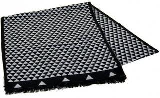 Шерстяной мужской шарф 170 на 30 см 50146-4 ромб