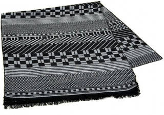 Красивый шерстяной мужской шарф 170 на 30 см 50146-31 серый
