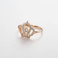 Золотое кольцо корона с фианитами ГП21150