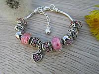 Женский браслет в стиле Пандора PANDORA роз
