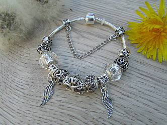 Женский браслет в стиле Пандора PANDORA крила
