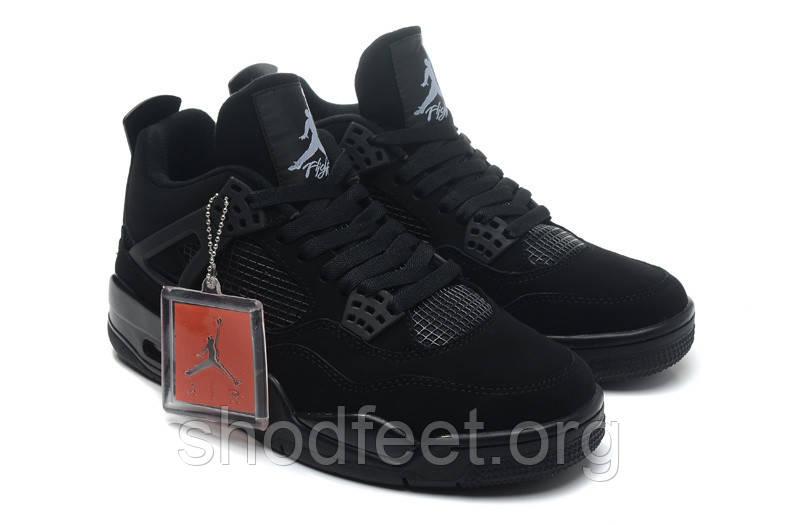 Мужские баскетбольные кроссовки Air Jordan Retro 4 Black Cat