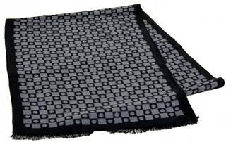 Шерстяной мужской шарф 170 на 30 см 50146-32 серый