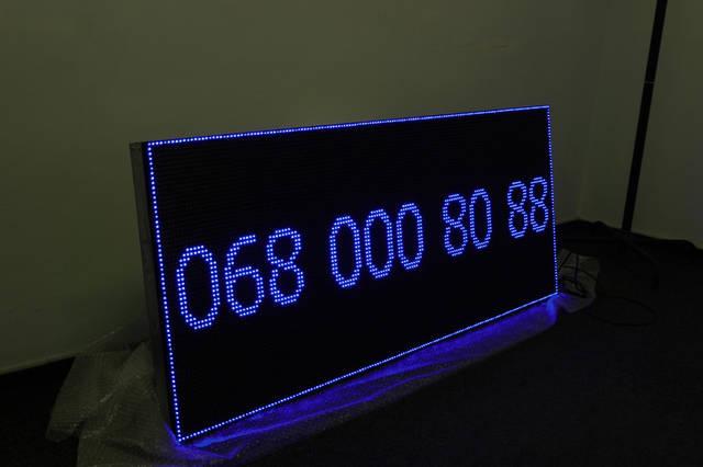 Светодиодная строка 160 см * 64 см синяя 1