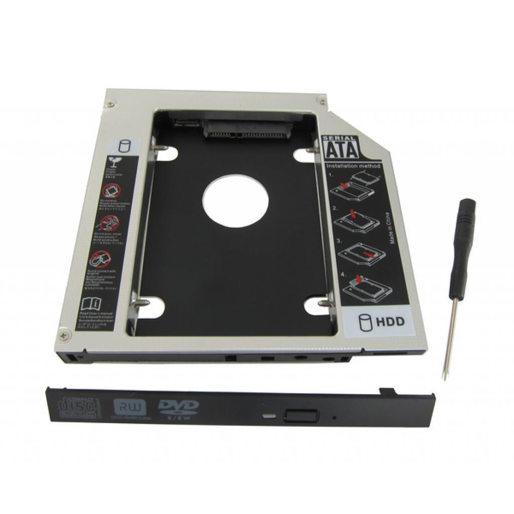 """Карман Maiwo NSTOR-9 для подключ. 2,5"""" HDD в отсек привода ноутбука толщ.9,5 мм"""