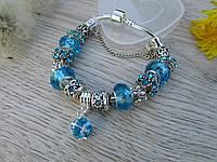 Женский браслет в стиле Пандора PANDORA blue