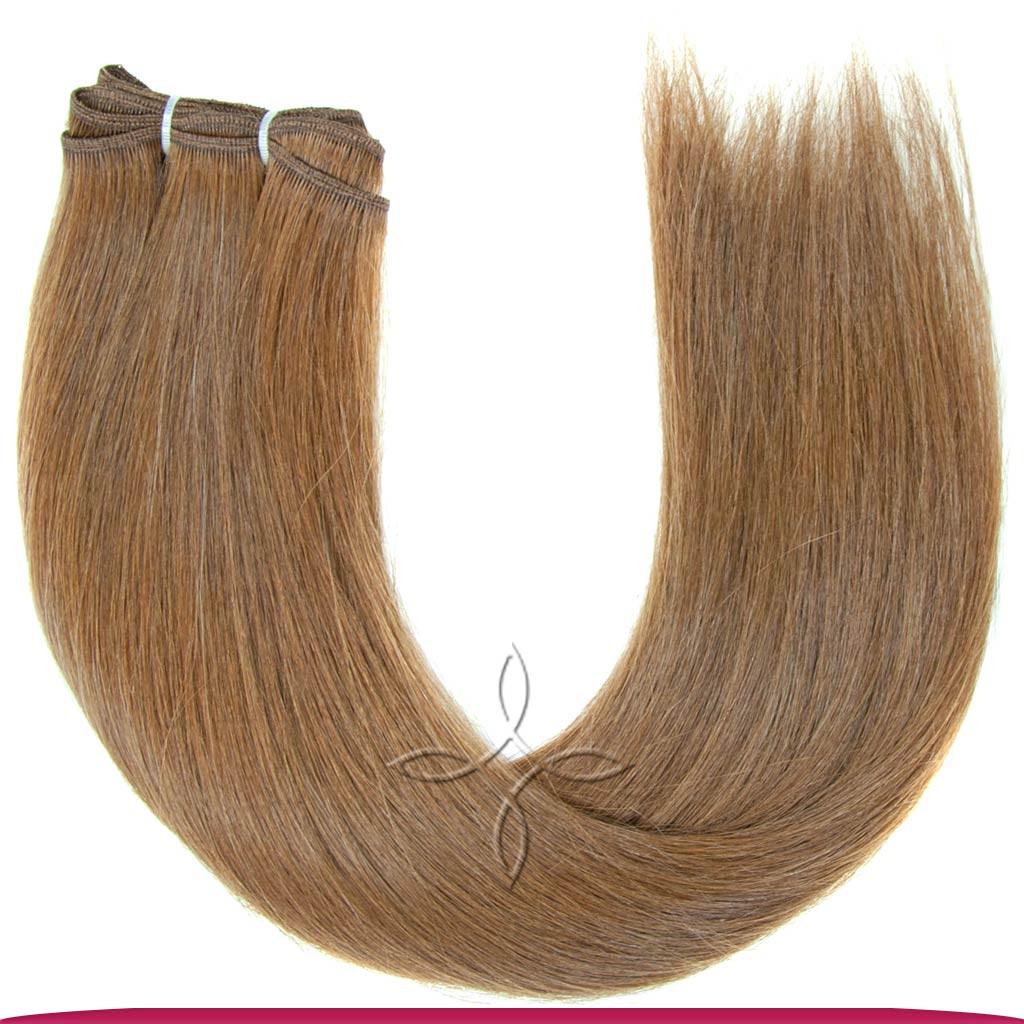 Натуральные Славянские Волосы на Трессе 45-50 см 100 грамм, Шоколад №06