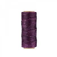 Нить вощеная плоская 1мм (100м) фиолетовая
