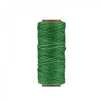 Нить вощеная плоская 1мм (100м) зеленая
