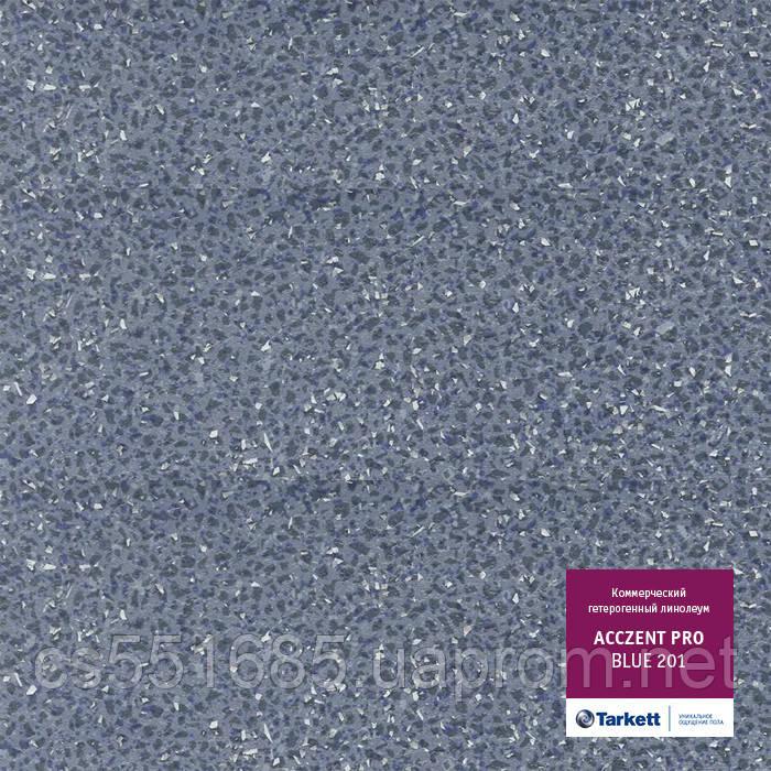 Blue 201 - линолеум коммерческий гетерогенный 34 класс, коллекция Acczent Pro  (Акцент Про) Tarkett (Таркетт)