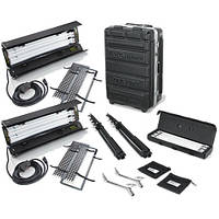 Kino Flo Dual Diva-Lite 201 Fixtures with Flight Case Kit (120VAC) (KIT-D22-120)