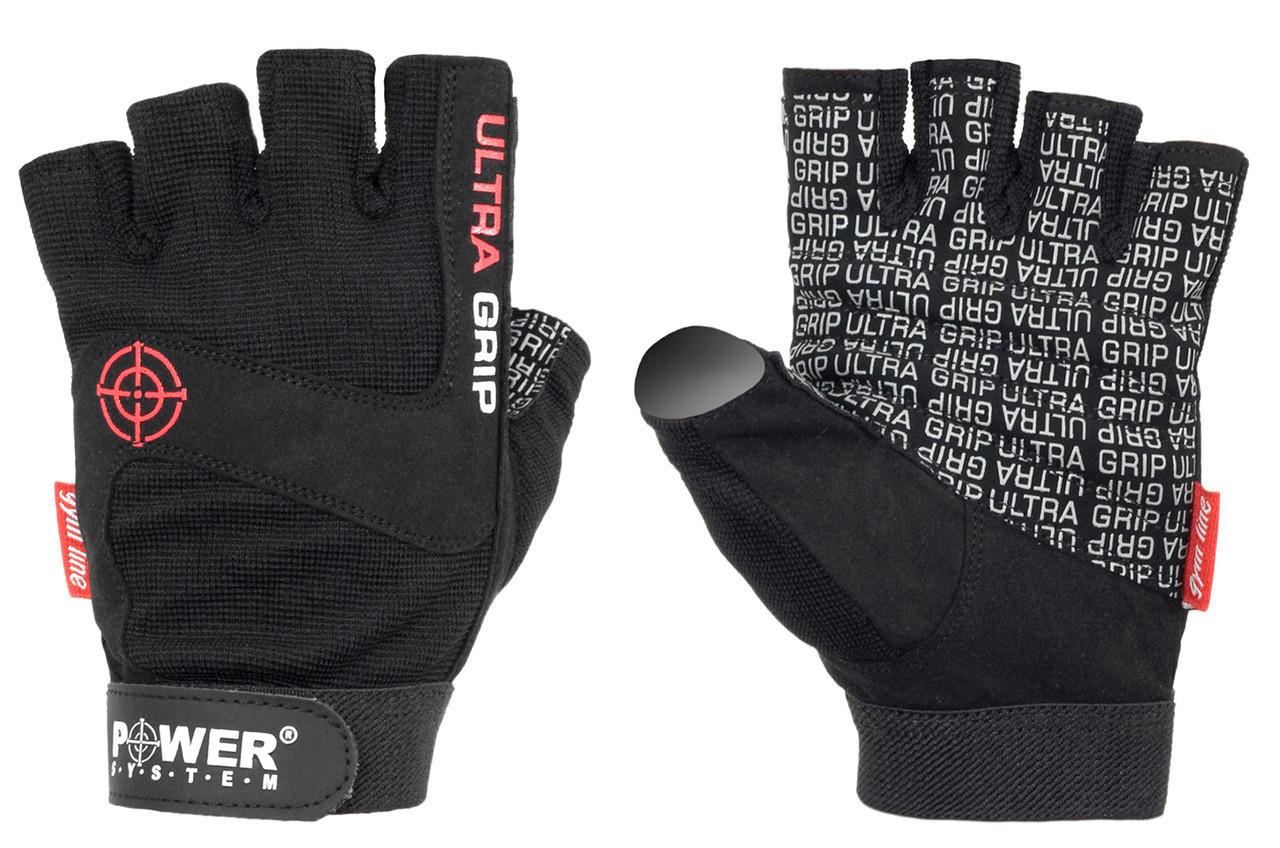 Перчатки для фитнеса и тяжелой атлетики Power System Ultra Grip PS-2400 Black S
