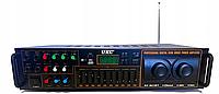 Усилитель UKC AV-663BT Bluetooth FM SD USB AUX Караоке 4 x Микрофона